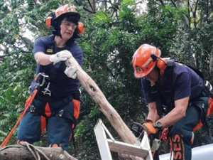 Emergency volunteers' rapid respond to storm damage