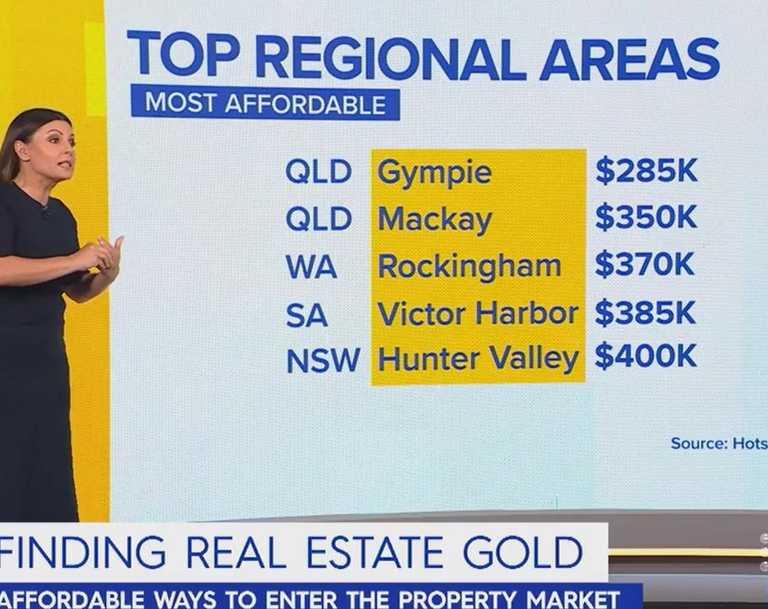 Gympie's property market has made national headlines on Channel Nine's Today breakfast television show, named as one of the most affordable in the country. Picture: Today