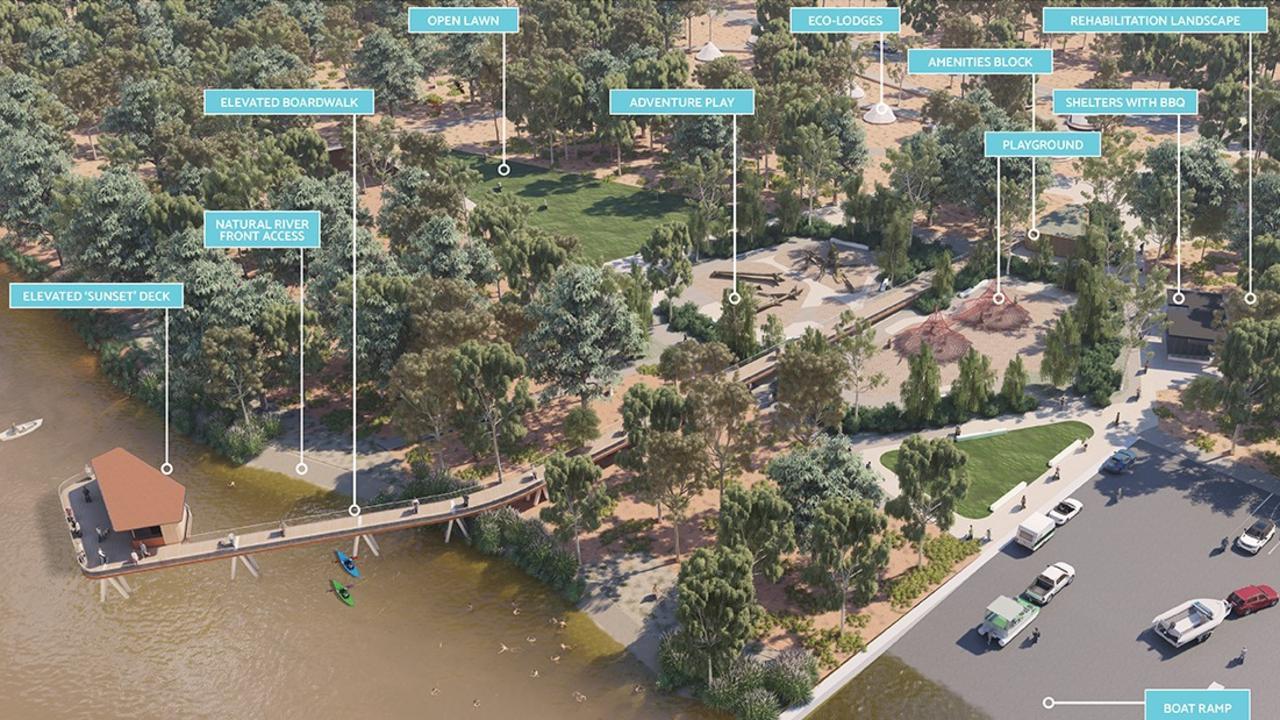 The draft Thomson River masterplan designed by Urbis.