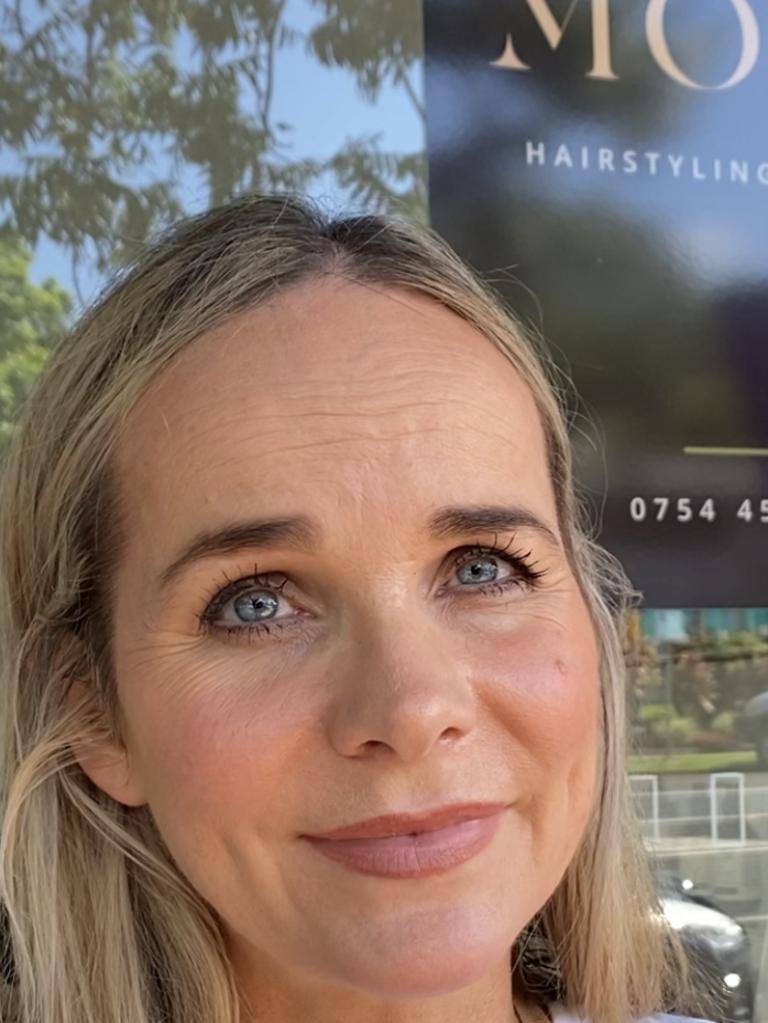 Karina Utkin from Mojo Hairstyling Studio in Palmwood's main street