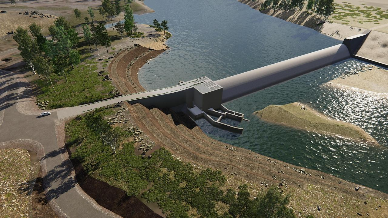 Concept image of the completed Rookwood Weir.