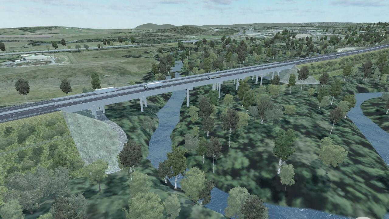 Construction is underway on Bolcaro Road, East Deep Creek to build a new two-lane, 60m bridge over the Bruce Highway as part of the $1 billion Cooroy to Curra Section D Gympie Bypass