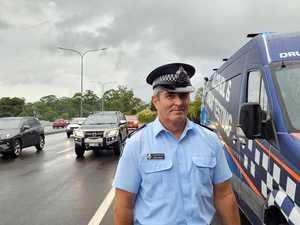 Police blitz unfolds on major arterial road