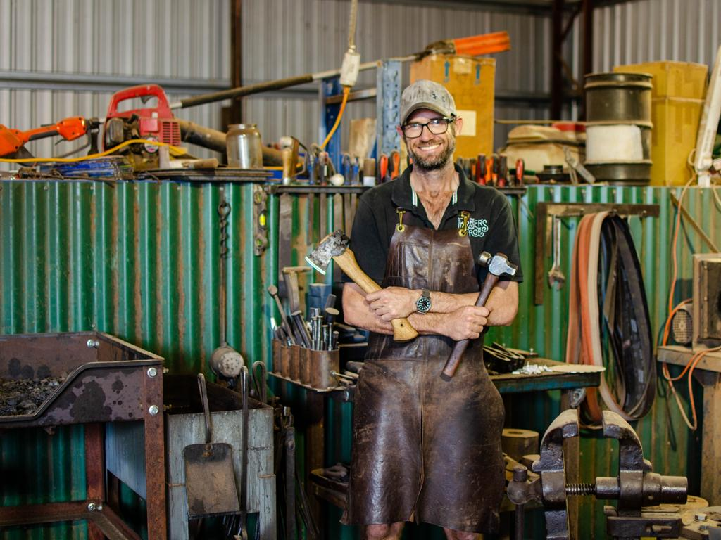 Mick Henricks has turned his love for metalwork into an artisan business, the Farmers Forge. Photo: Lachlan Berlin