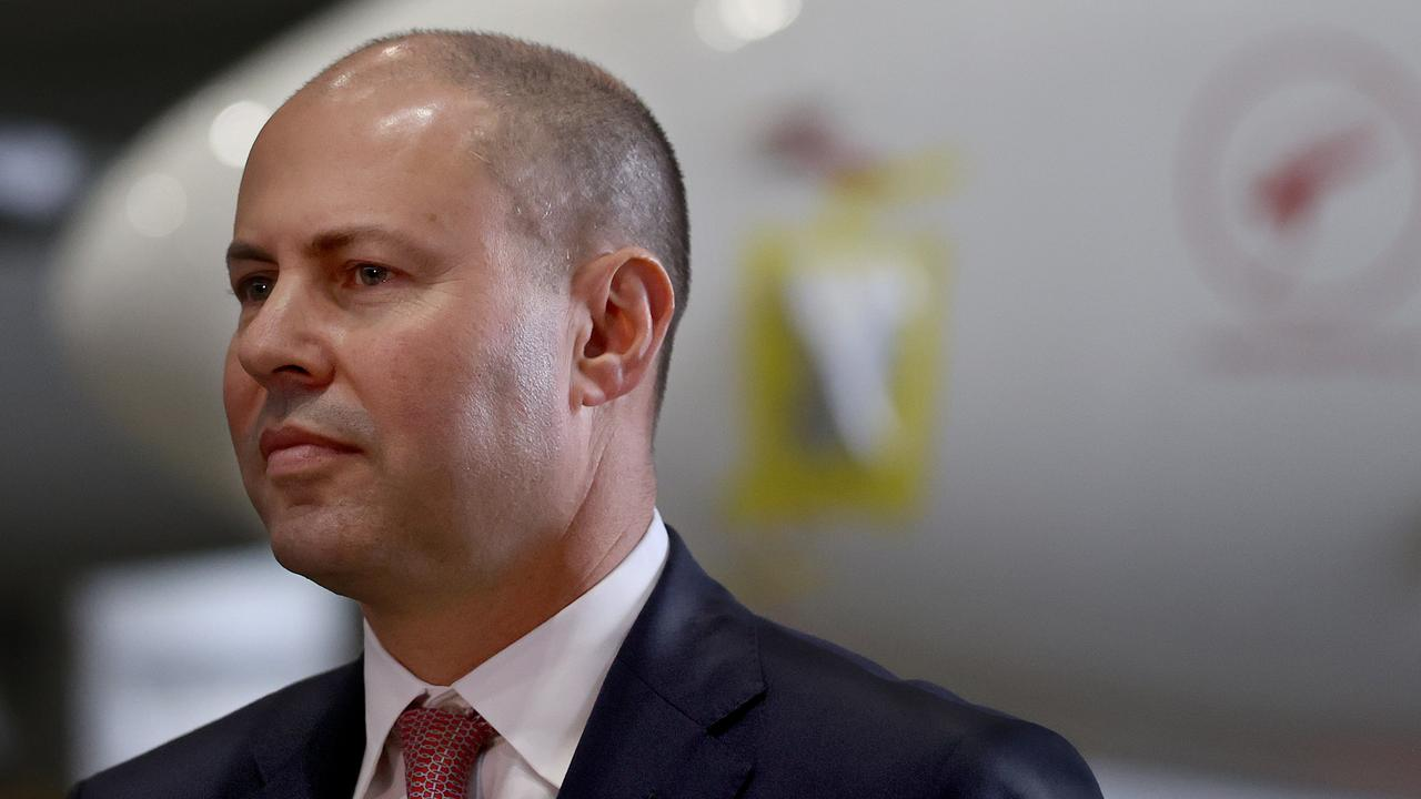 Mr Frydenberg said on 7.30 that the advice from Treasury has been as the economy strengthens and people get back to work, JobKeeper needs to come to an end. Picture: NCA NewsWire / Dylan Coker
