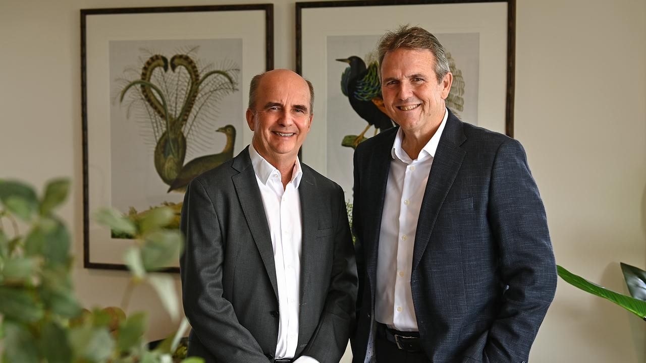 Halcyon joint managing directors Paul Melville and Dr Bevan Geissmann.