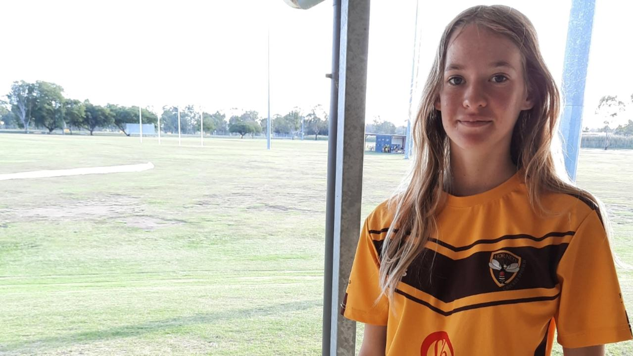 Promising Ipswich Hornets cricketer Macy Hauser has been with the club from the beginning. Picture: David Lems