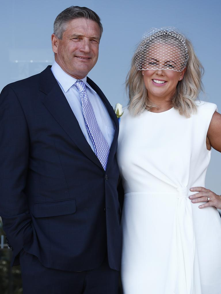 Armytage with husband Richard Lavender. Picture: Sam Ruttyn