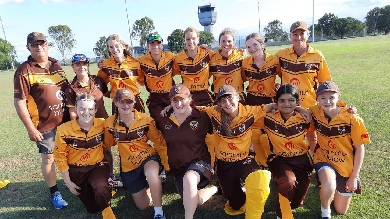 The Ipswich Hornets women's second grade team that beat the Sunshine Coast Scorchers in the semi-final at Walker Oval. Picture: David Lems