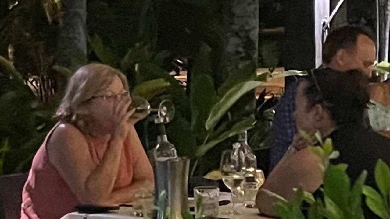 Police Minister Lisa Neville was snapped on holiday in Port Douglas