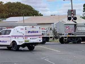 TRAIN CRASH: Dalby collision causes traffic chaos