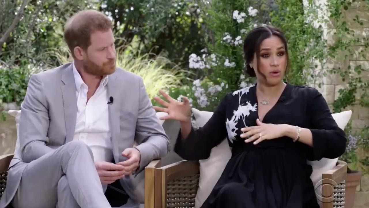 Harry and Meghan's interview with Oprah Winfrey has stunned the world. Picture: CBS