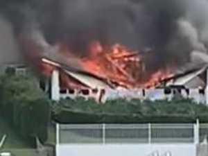 BREAKING: Massive blaze destroys Gold Coast home