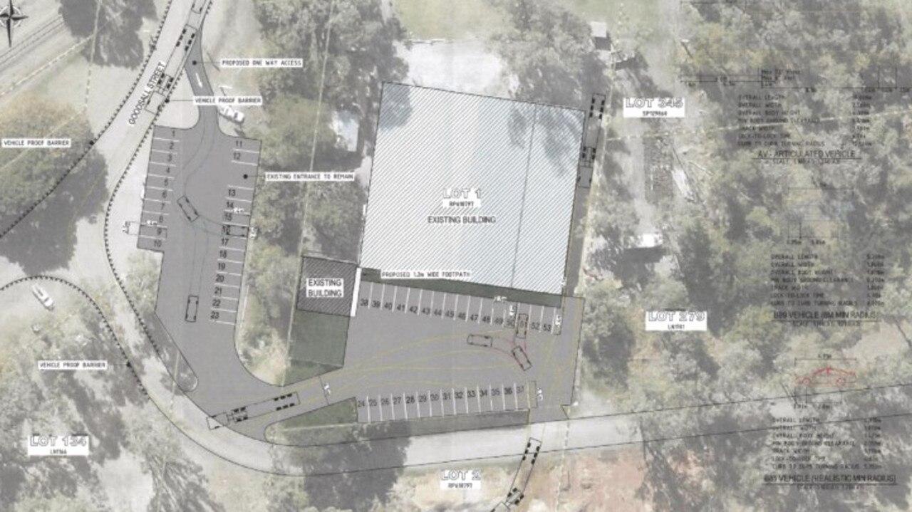 Proposed car park plans at Doblo's Farmers Markets.