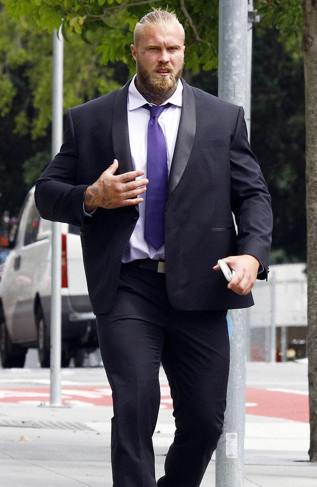 Eugene Bradshaw faced Brisbane Supreme Court where he pleaded guilty to possessing cocaine and steroids. Picture: NCA NewsWire/Tertius Pickard