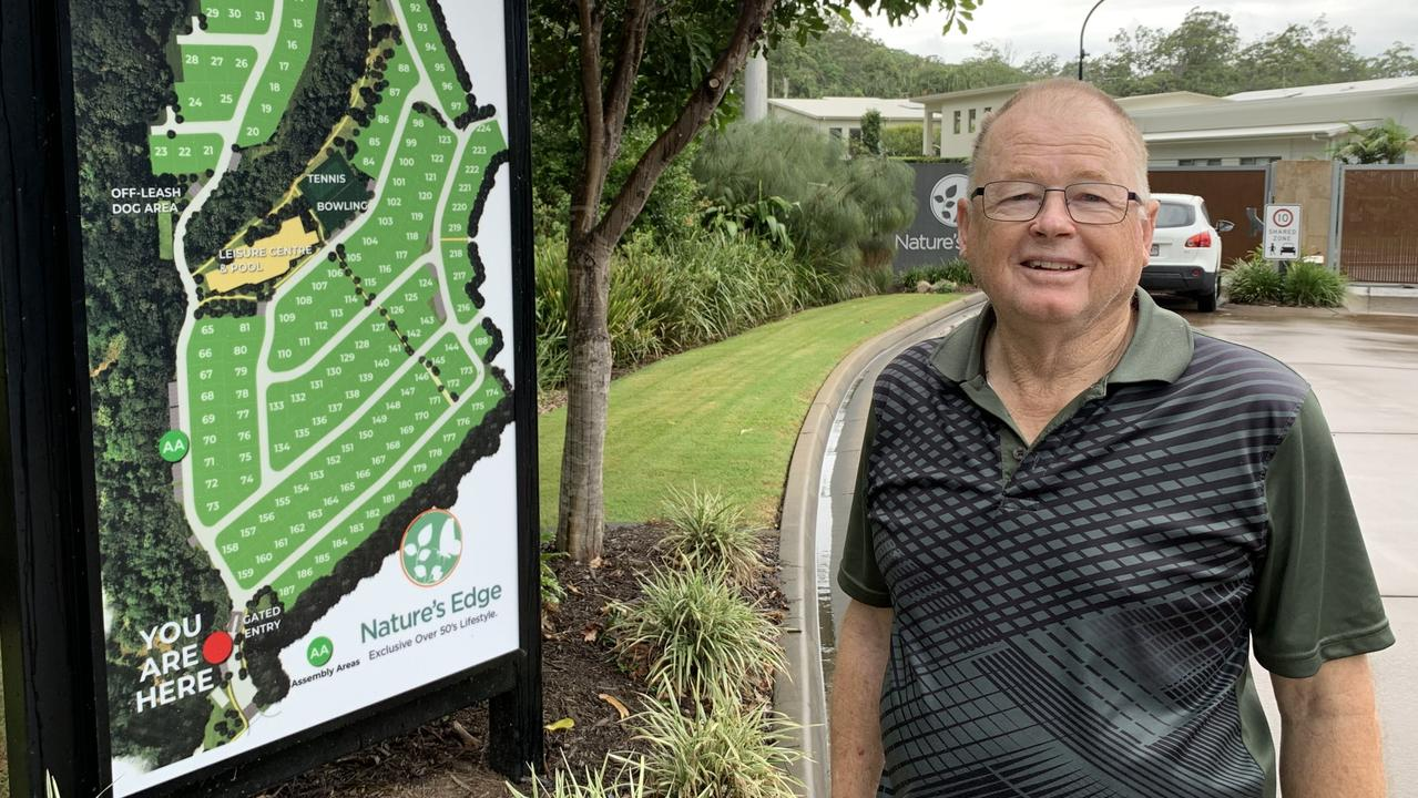 Nature's Edge over 50s resort resident Neil Bilney says he was not made aware of future expansion plans when he bought his home.