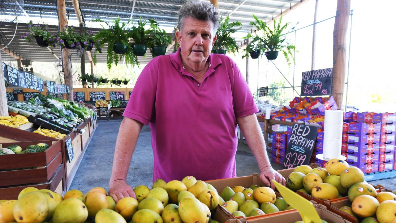 Dominic Doblo at his farmers markets on Goodsall St.