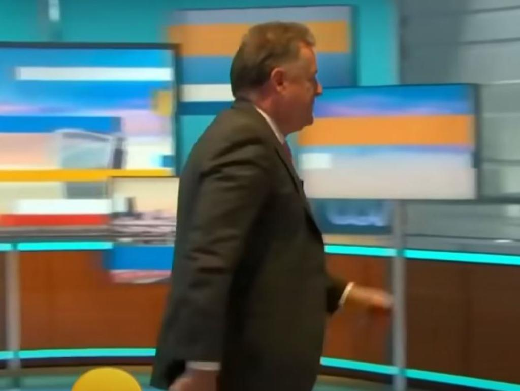 Piers Morgan walks off during live filming of Good Morning Britain after conflict with Alex Beresford.