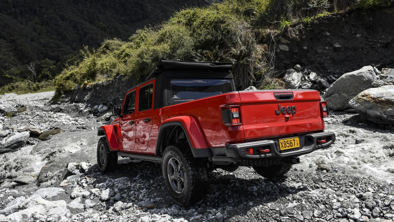 Jeep's dual-cab Gladiator Rubicon ute relishes the outdoors.