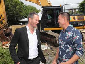 Derelict homes torn down by developer