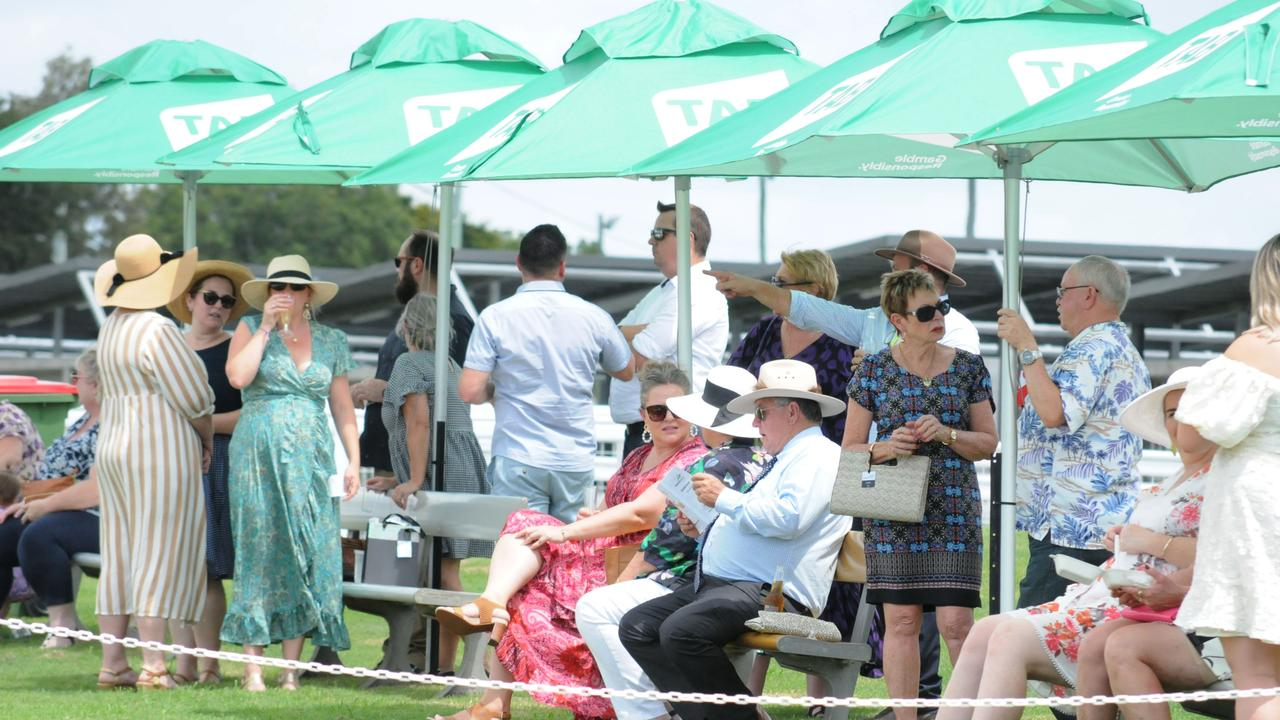 Ipswich racegoers enjoy a Saturday meeting at the Bundamba track. Picture: Claire Power
