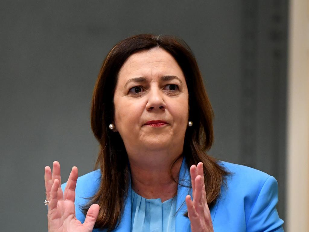 Queensland Premier Annastacia Palaszczuk … Picture: NCA NewsWire / Dan Peled