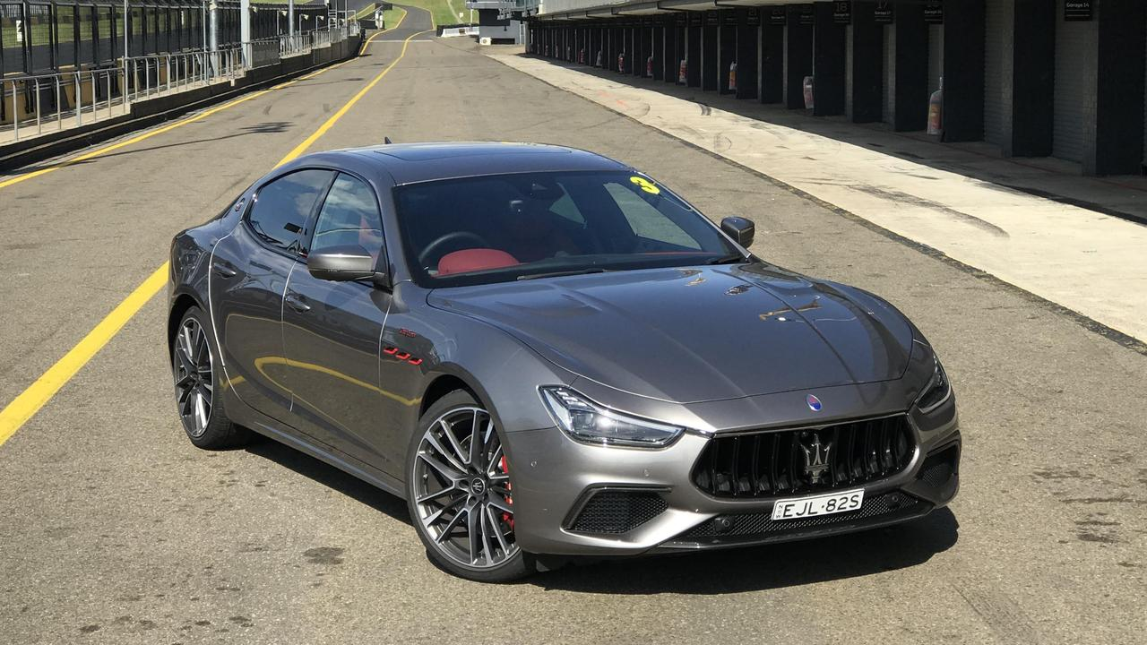 The Ghibli Trofeo is fast but is not competitor to the BMW M5 or other German super sedans.