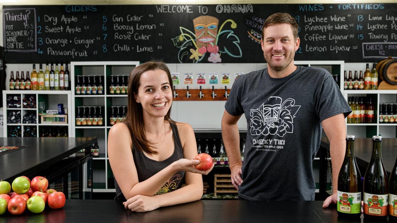 Josh and Zoe Young from Ohana Winery & Cheeky Tiki Cider in Bundaberg.