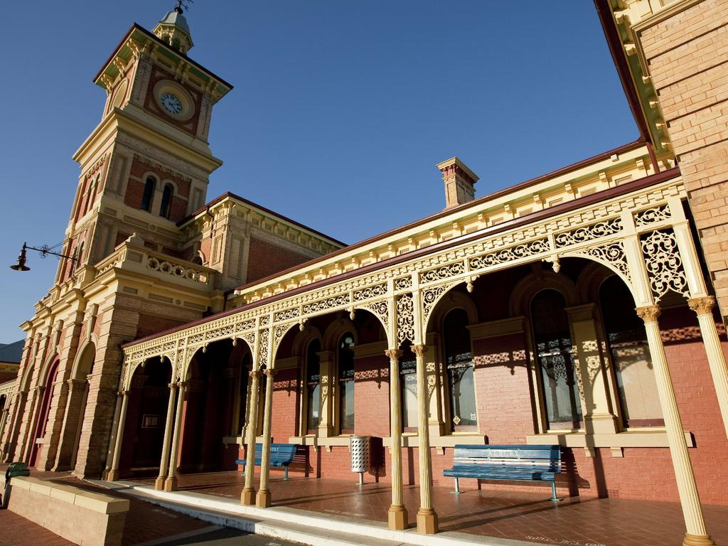 Albury Railway Station in Albury – one of the NSW's cheapest major towns. Picture: Tourism NSW