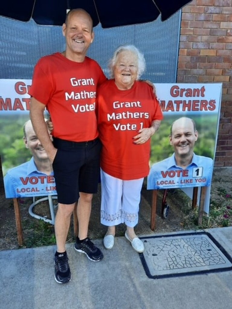 Grant Mathers and his 'number one supporter', his mum Shirley.