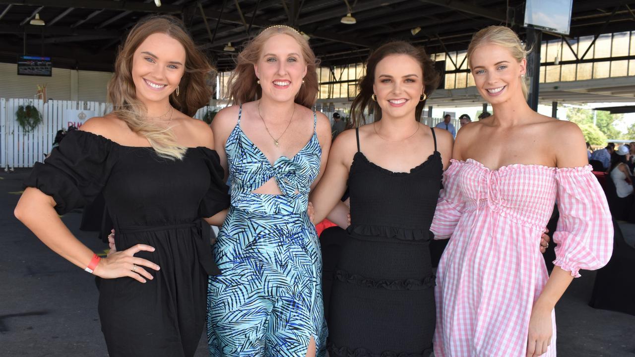 St Patrick's Day Races Rockhampton 2021: Emily Champion, Kate Louis, Bree Grentell and Emily Williams