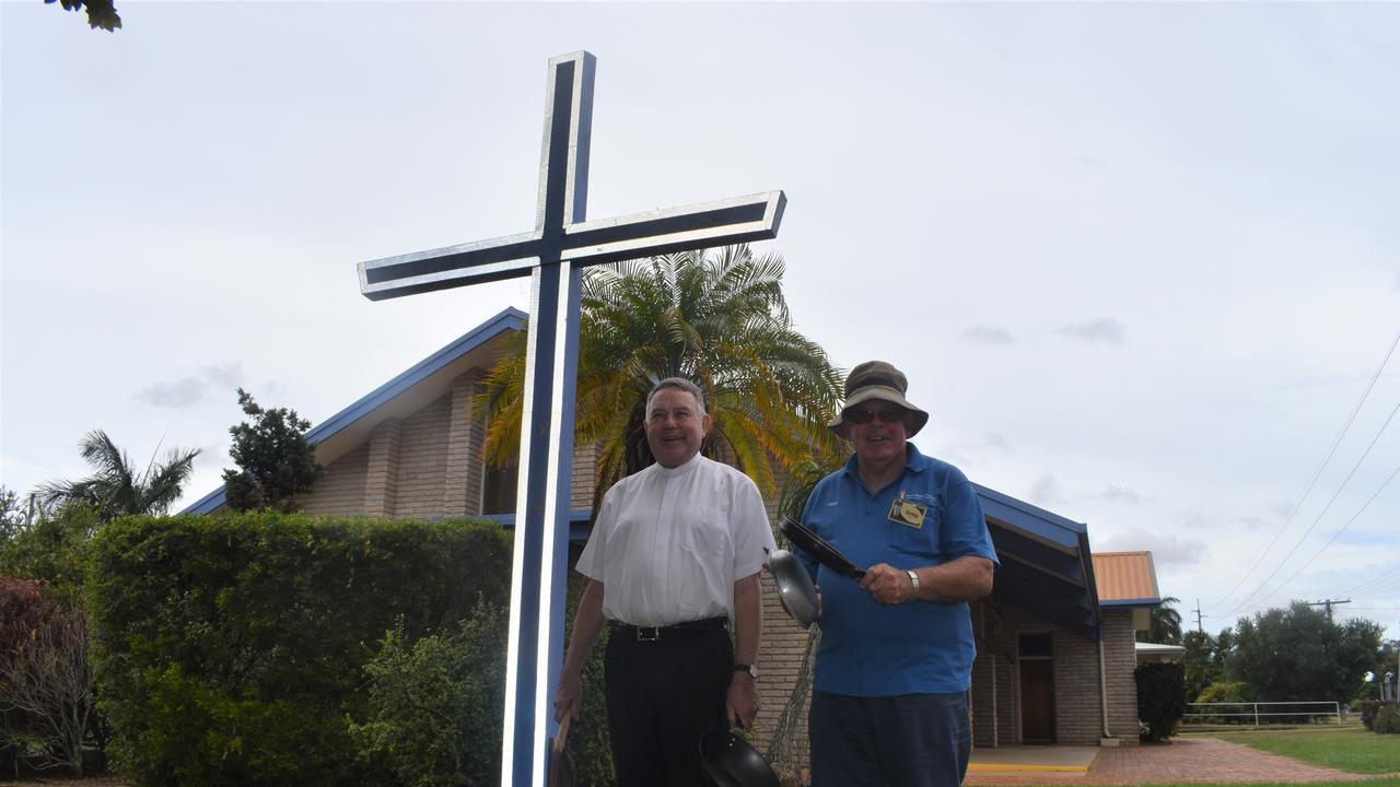 Arch Deacon Keith Dean-Jones with Greg Blundell.