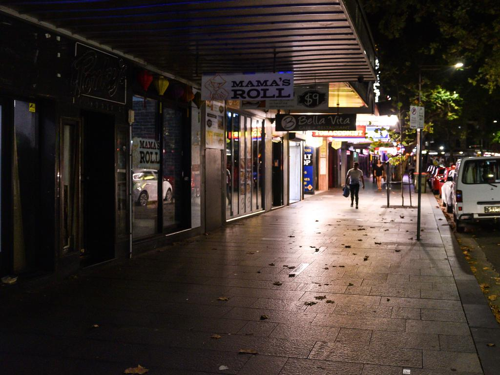 'This used to be f***ing bonkers!' … disappointed partygoers are stunned by the empty streets.