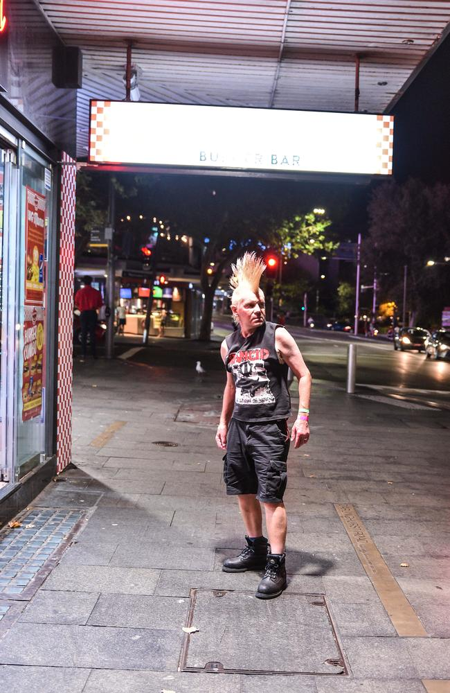 Robbie The Punk, on the hunt for a kebab and better days.