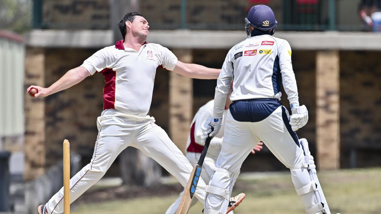 Centrals' fast bowler Rhys O'Sullivan delivered one of the most crucial spells of his career to lift his team into the grand final against Laidley. Picture: Cordell Richardson