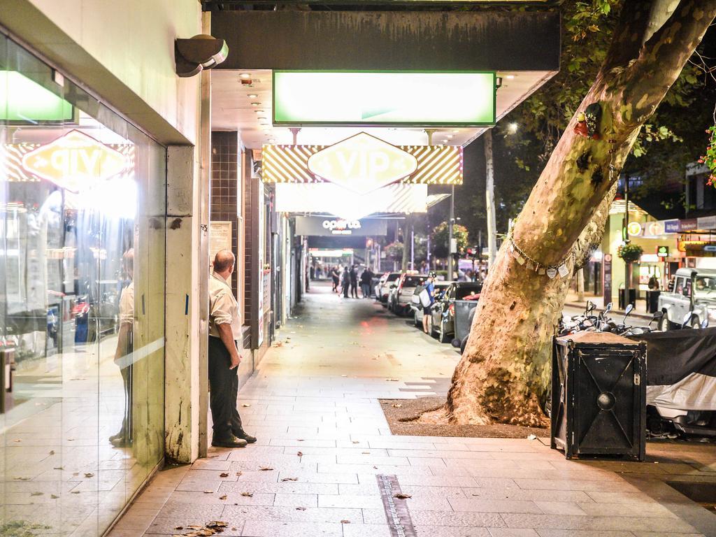 A raging Saturday night in Sydney's Kings Cross.