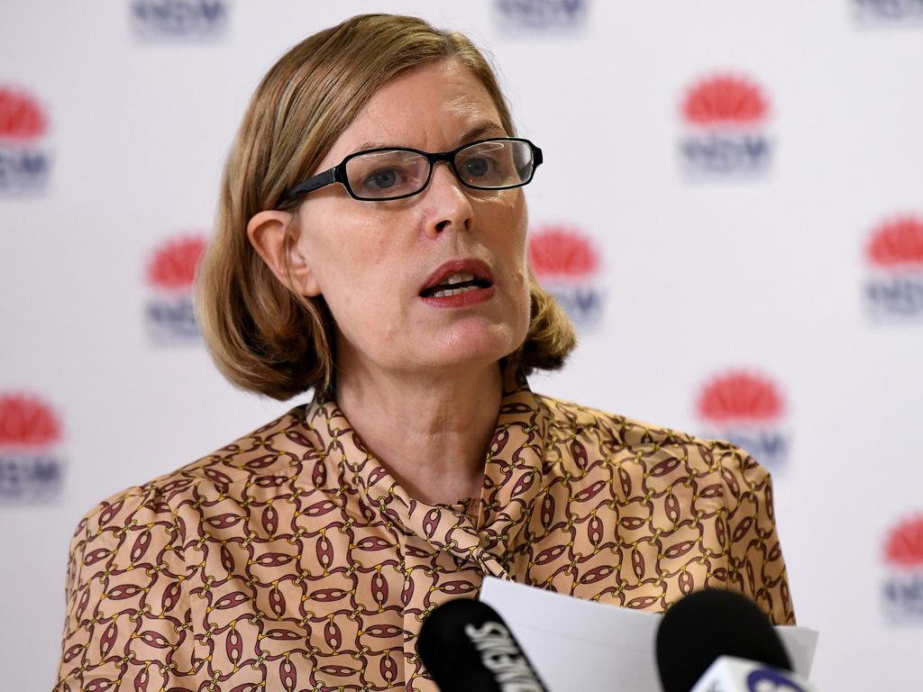 NSW Chief Health Officer Dr Kerry Chant said contact tracers had spoken to 130 colleagues. Picture: NCA NewsWire/Bianca De Marchi