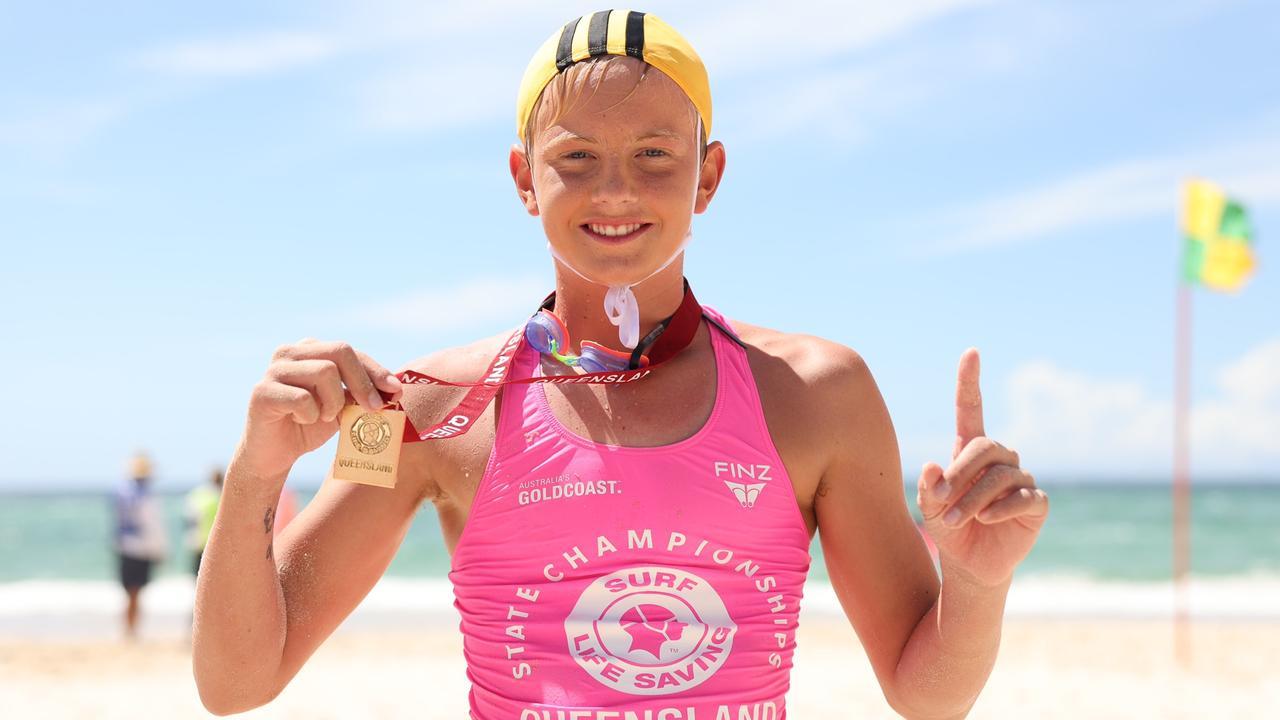 Alexandra Headland's Byron Oliphant won the U13 Ironman. Picture: SLSQ