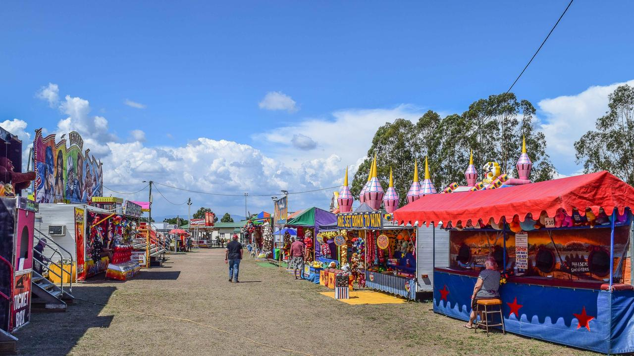 Sideshow alley at the Warwick Show.