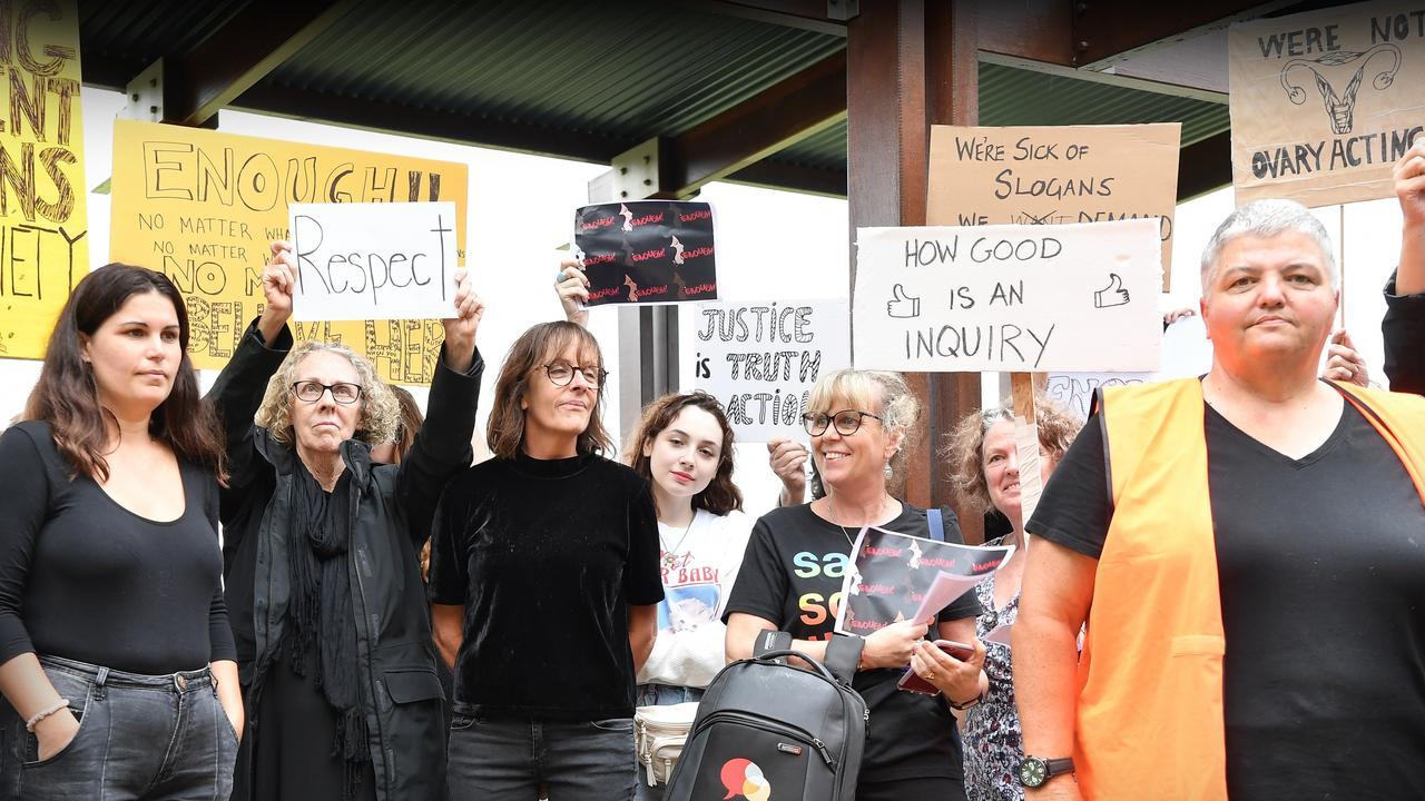 More than 100 passionate protesters gathered at the Sunshine Coast's March4Justice at Cotton Tree on monday. Picture: Patrick Woods.
