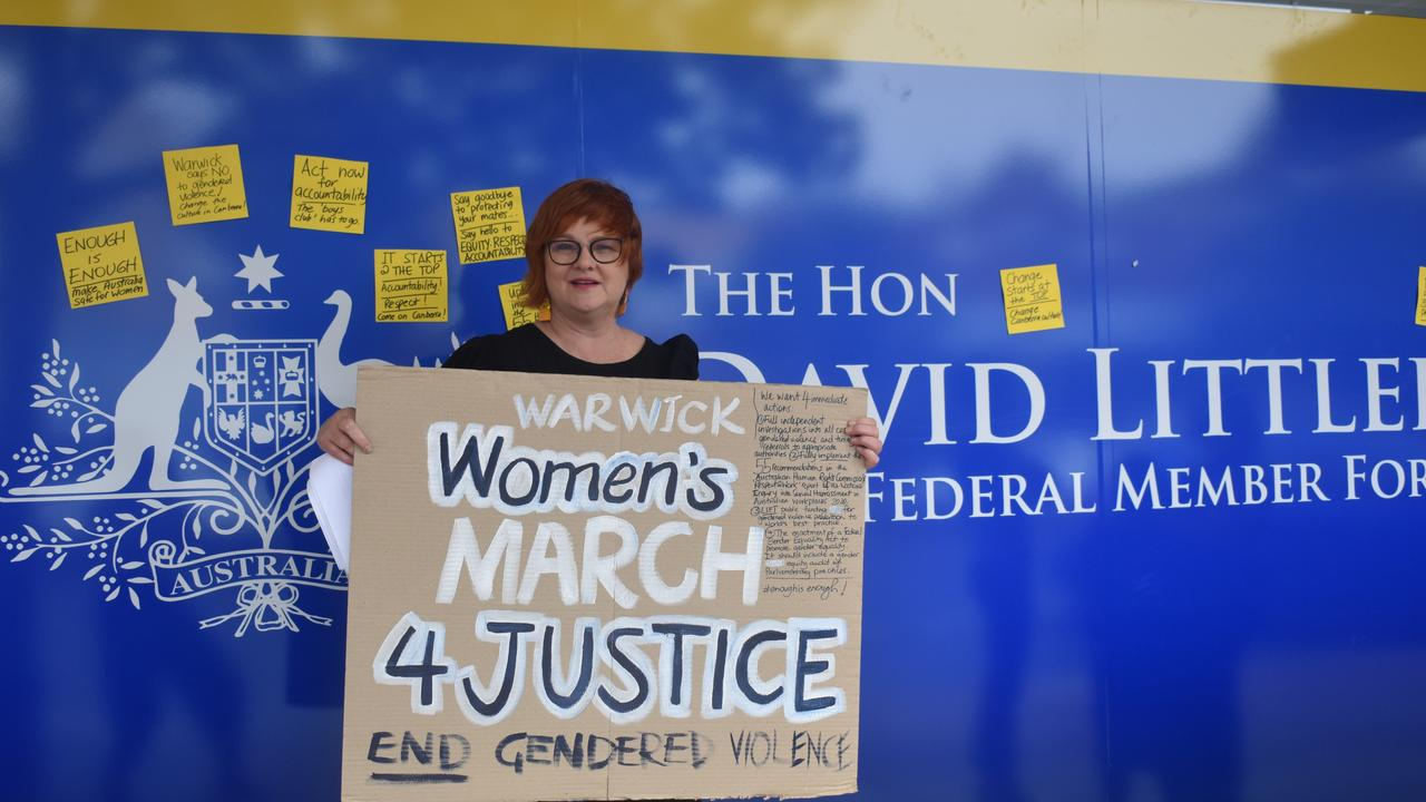 Warwick protest organiser Sue Hamlet said she and her fellow activists were calling on