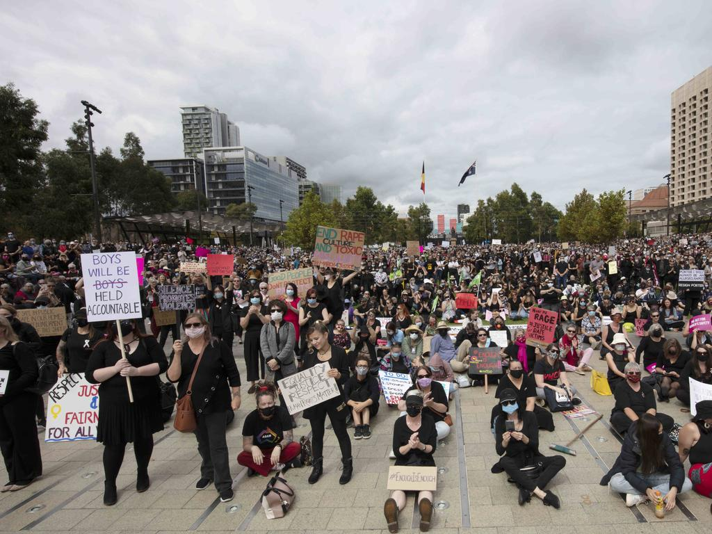 March 4 Justice in Victoria Square, Adelaide. Picture: Emma Brasier