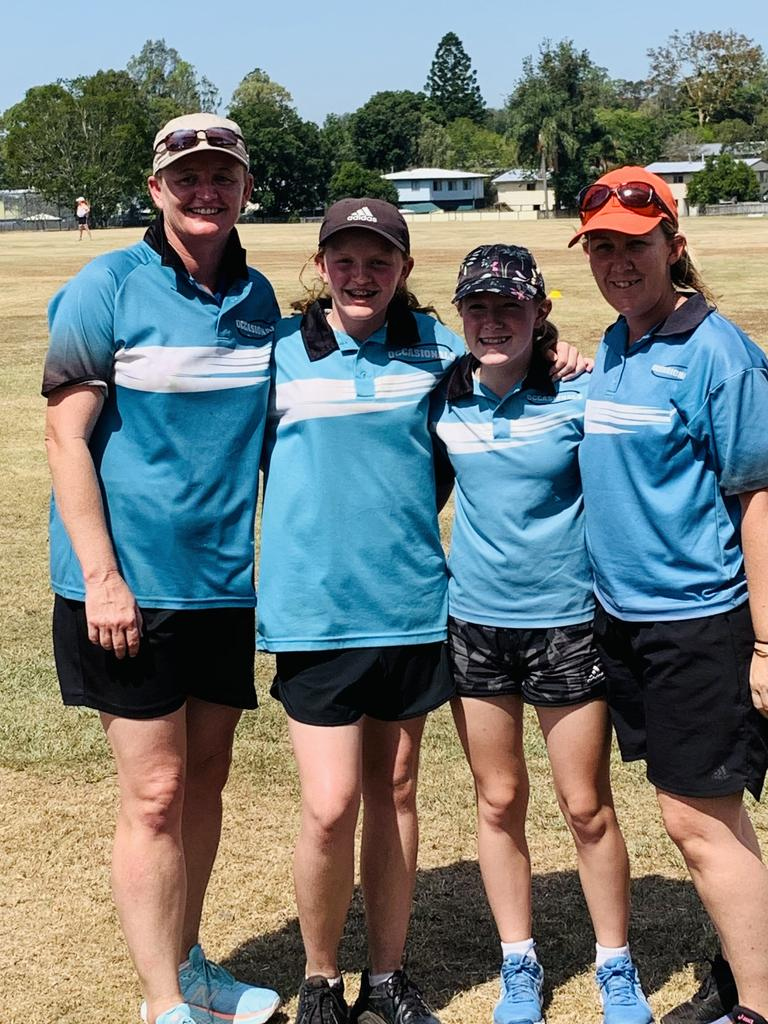 Occasionals vigoro mums and daughters (from left) Deanne Lawrie and Joanne Harding, and Chantel and Jorja Collie.