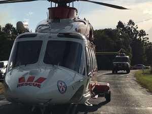 Car rollover: Chopper flies woman, 19, to hospital