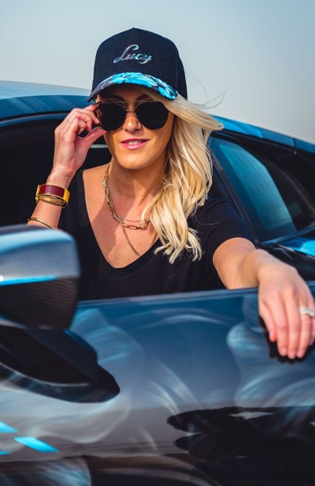 Car influencer Alexandra Hirschi.