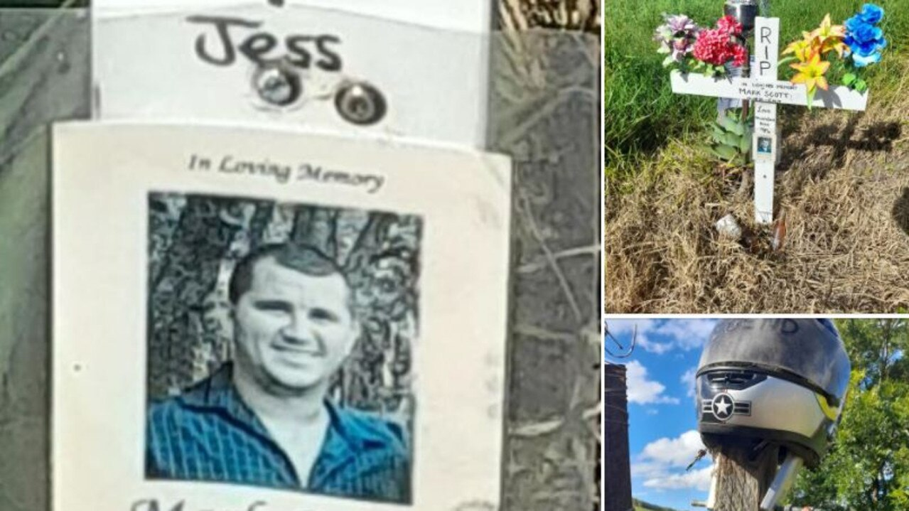 A memorial to a man killed on Gap Road in Cedar Pocket is being temporarily moved during road upgrades. Photos: Ailsa Reid