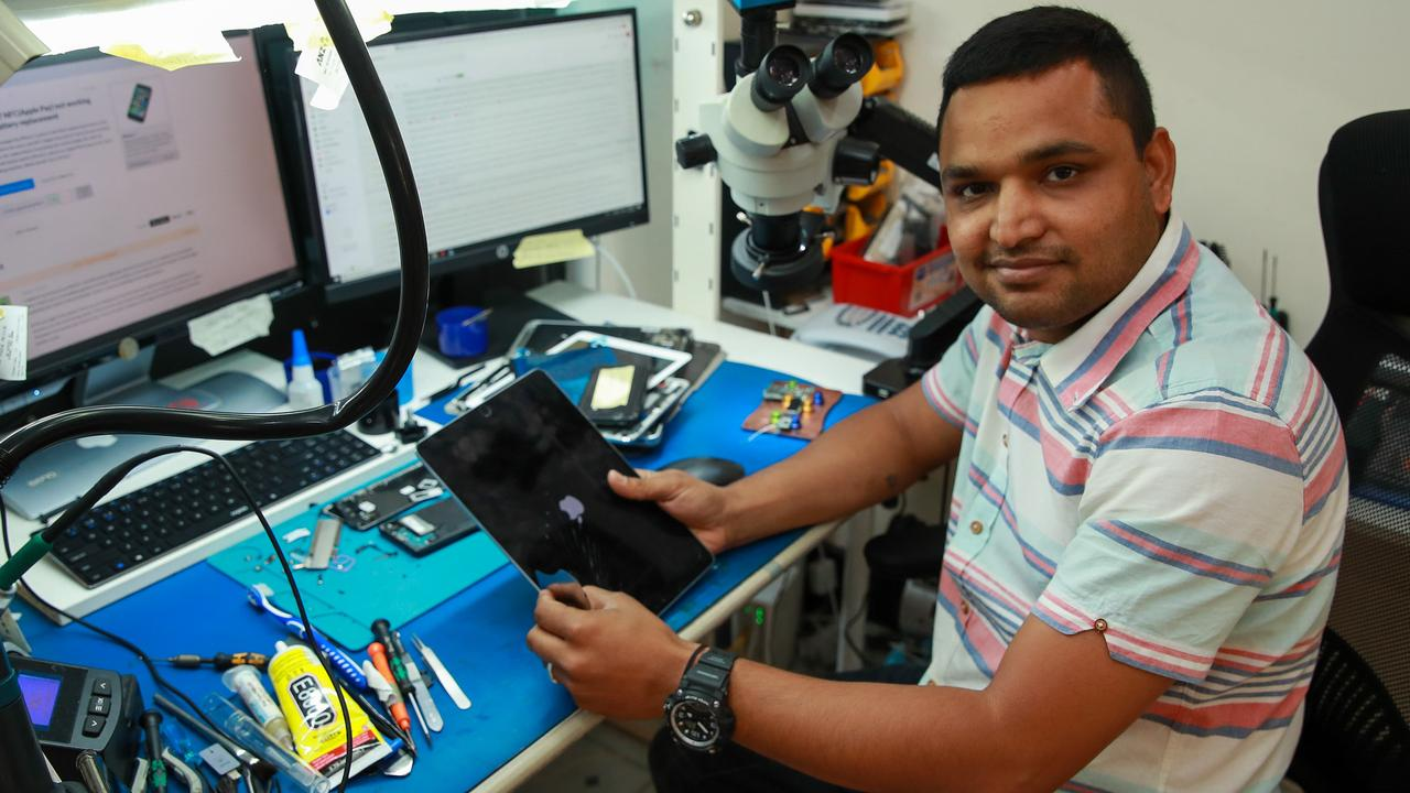 Ricky Parmar, owner of My Phone Rescue, has also used Jobkeeper. Picture: Justin Lloyd
