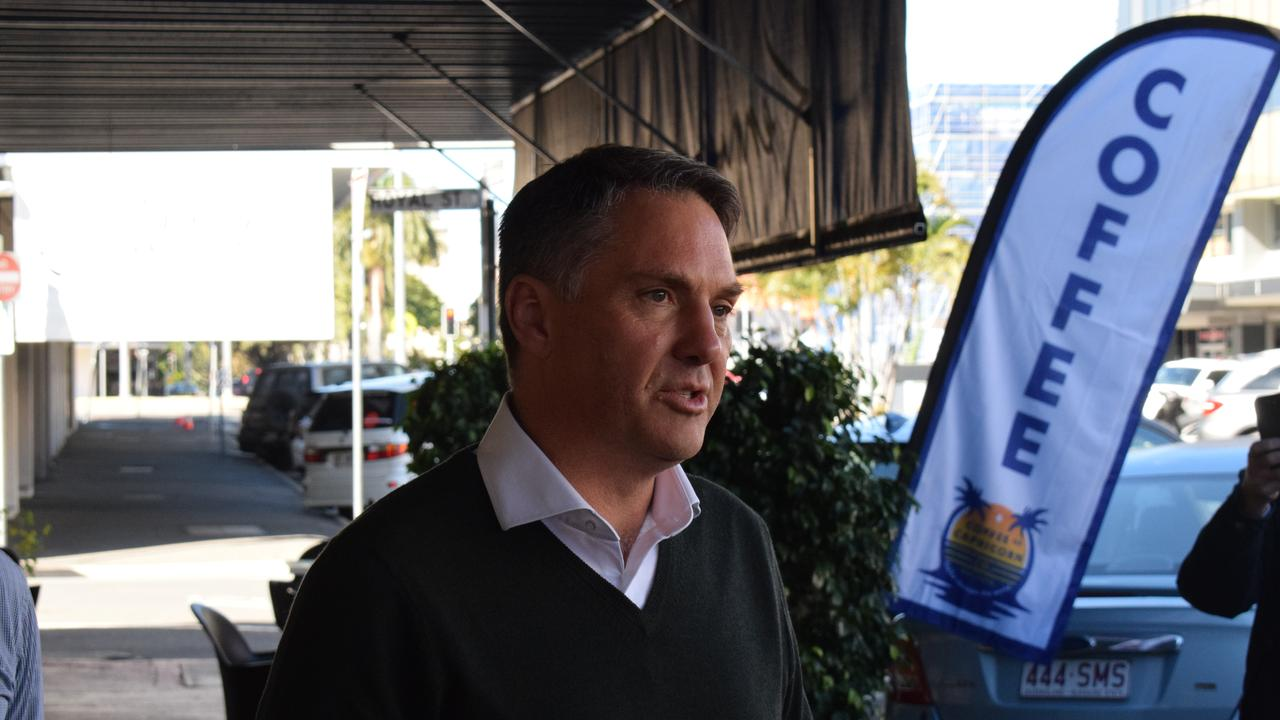 Labor deputy leader Richard Marles during his listening tour of central Queensland in 2019, which included a visit to a coalmine.