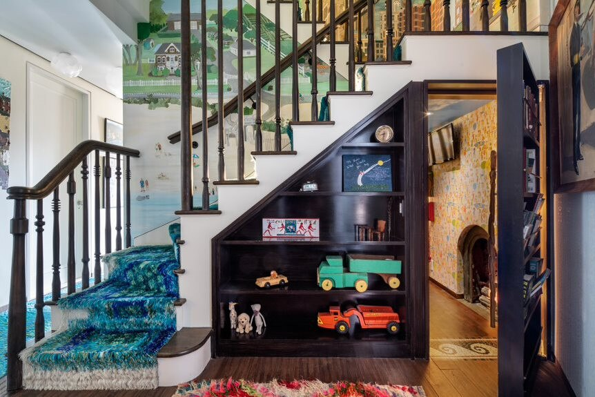 Under the staircase is a secret kids playroom. Picture: Realtor/Sothebys