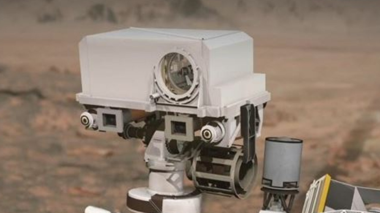 The 'SuperCam' mounted on NASA's Perseverance rover captured the sounds of Mars. Picture: NASA